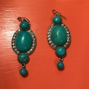 Turquoise color antique style fashion earrings
